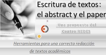 Escritura de textos académicos breves: el abstract y el paper (14 de Marzo de 2017)